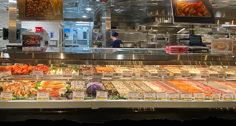 San Pedro Fish Market fresh seafood selection